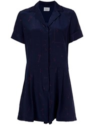 Grey Jason Wu Shirt Playsuit Blue