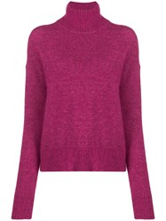 J. Lindeberg J.Lindeberg Turtle Neck Ribbed Sweater Pink