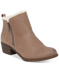 Lucky Brand Women's Basel Fake Fur Lined Booties Women's Shoes Sesame