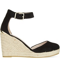 Carvela Kold Espadrille Wedge Heels Black