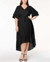 Ny Collection Plus Size High Low Dress Black