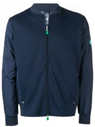 Save The Duck Zipped Up Bomber Jacket Blue