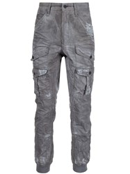 Prps Distressed Cargo Trousers Grey