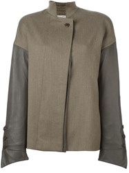 Gianfranco Ferre Vintage Panelled Jacket Brown