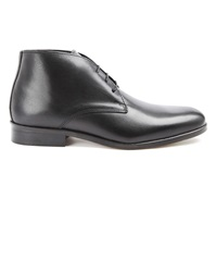 Menlook Label Black Leather Desert Boots