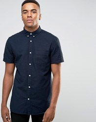 New Look Shirt With Short Sleeves In Navy In Regular Fit Navy