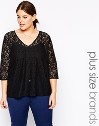 Carmakoma Lace Detail Top Black