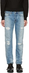 Paul Smith Ps By Blue Ripped Slim Jeans