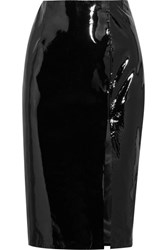 Topshop Unique Patent Leather Pencil Skirt Black