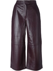 Avelon Leather Culottes Red
