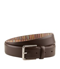 Paul Smith Leather Belt Unisex Brown