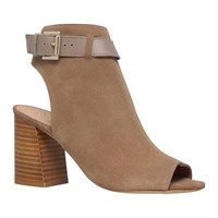 Kg By Kurt Geiger Ripple Peep Toe Ankle Boots Taupe
