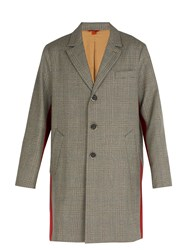 Barena Prince Of Wales Checked Wool Overcoat Grey Multi