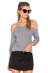 Lanston Exposed Shoulder Tee Gray