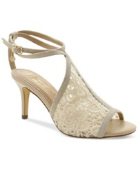 Nanette By Nanette Lepore Bonnie Crochet Ankle Strap Dress Sandals Women's Shoes Ivory