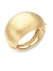 Diane Von Furstenberg Dome Bubble Gold Plated Cuff Bracelet