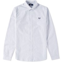 Fred Perry Stripe Oxford Shirt Blue