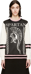 Fausto Puglisi Ivory And Black Spartan Sweatshirt