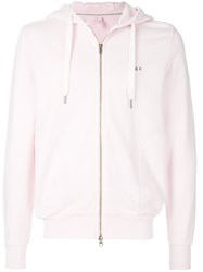 Sun 68 Classic Zipped Hoodie Pink And Purple