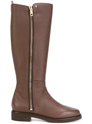 Bally Zipped Boots Leather Rubber Brown