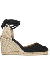 Castaner Carina Canvas Wedge Espadrilles Black
