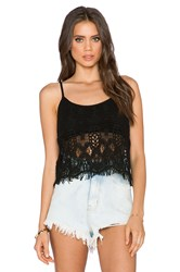 Gypsy 05 Crochet Tank Black