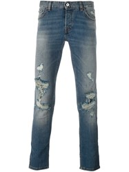 Just Cavalli Distressed Skinny Jeans Blue
