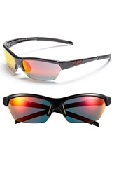Women's Smith Optics 'Approach' 62Mm Interchangeable Lens Sunglasses Black Red Sol X Clear