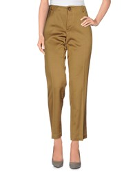 Erika Cavallini Semi Couture Erika Cavallini Semicouture Trousers Casual Trousers Women Camel