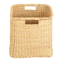 The Basket Room Mraba Square Hand Woven Storage Natural Beige