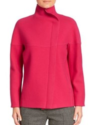 Akris Punto Technical Wool Asymmetrical Zip Jacket Pink