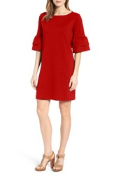 Halogenr Women's Halogen Ruffle Sleeve Shift Dress Red
