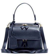 Victoria Beckham Mini Full Moon Leather Tote Blue