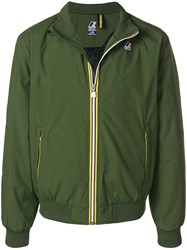 K Way Short Zipped Jacket Green