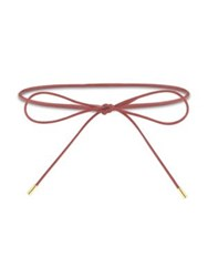 Elizabeth And James Fiona Leather Wrap Choker Red