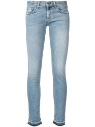 Rag And Bone Jean Faded Skinny Jeans Blue