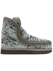 Mou Eskimo 18 Boots Women Wool Velvet Rubber 41 Green