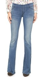 Free People Pull On Flare Jeans Blue Grass