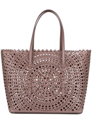 Alaia Cut Out Tote Brown