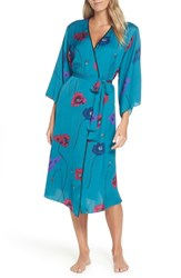 Josie Freestyle Satin Robe Dark Teal