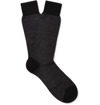 Pantherella Hatchard Cotton Blend Socks Black
