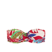 J.Crew Paradise Floral Underwire Bikini Top Red Ivory Multi