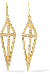 Noir Jewelry Montaillou Gold Tone Crystal Earrings One Size
