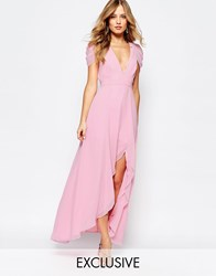Fame And Partners Radiant Angel High Low Maxi Dress Pi1 Pink 1
