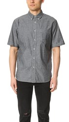 Rag And Bone Standard Issue Short Sleeve Standard Issue Chambray Shirt Black