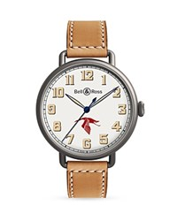 Bell And Ross Ww1 92 Guynemer Watch 45Mm White Tan