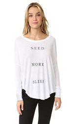 Wildfox Couture More Sleep Thermal Tee Clean White