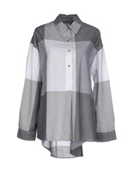 Vintage 55 Shirts Blouses Women Grey