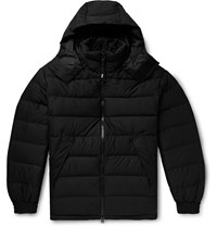Y 3 Logo Print Quilted Shell Hooded Down Jacket Black