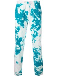 The Elder Statesman Marble Dyed Track Trousers Blue